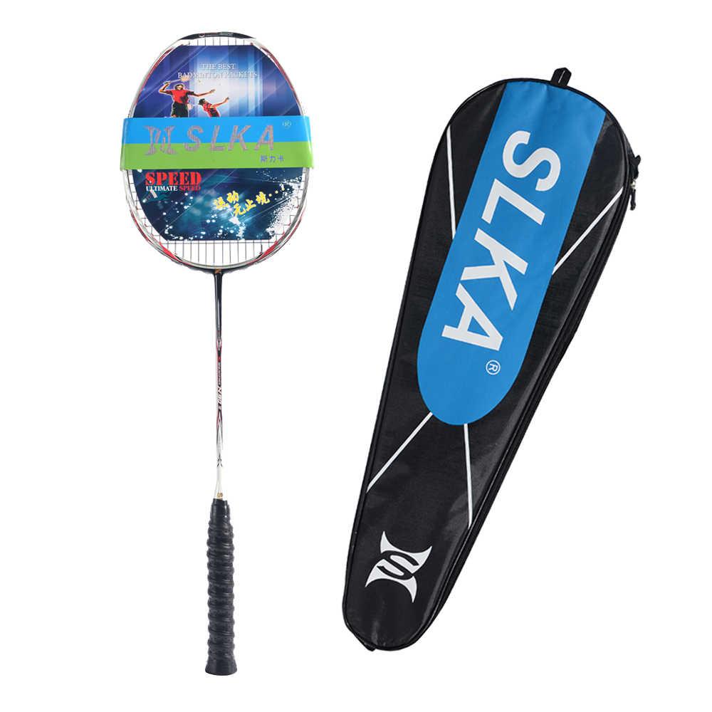 Ultralight 7U 67g Professional Full Carbon Badminton Racket N90III Strung Badminton Racquet 30 LBS with Grips and Bag
