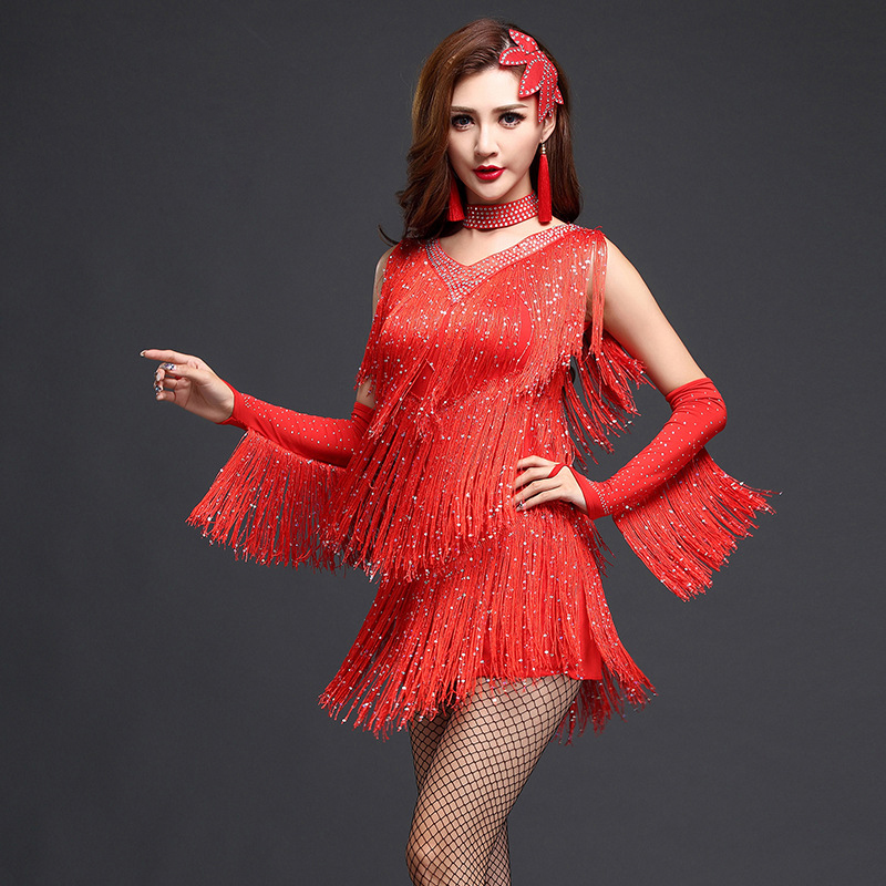 2018 New Women Ballroom Dance Dress Samba Costume with ...