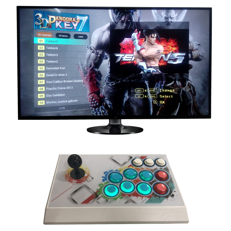 US $169 99 |1920X1080P FC 3D 2167+10 home tv pc games in 1 arcade video  game console 2 players with arcade joystick support HDMI VGA output-in  Video