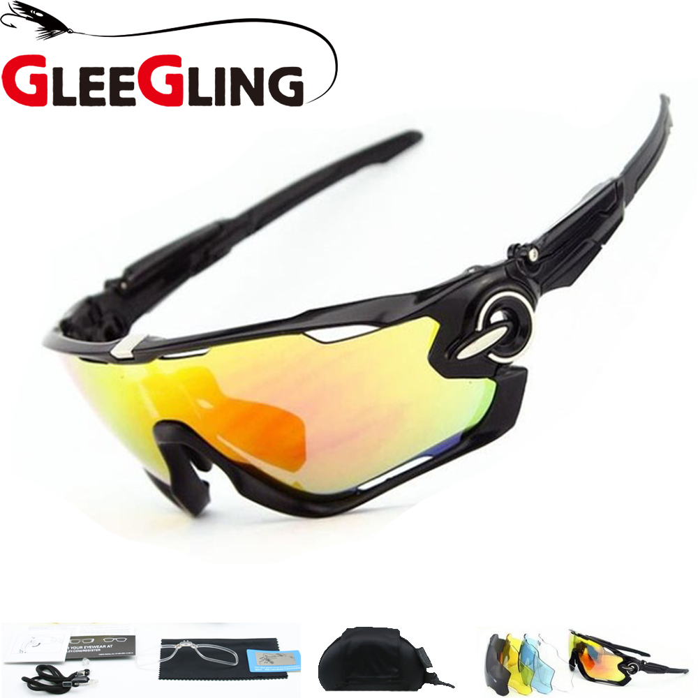 GLEEGLING Fishing Glasses UV400 Polarized Outdoor Safety Sport Glasses Bicycle Hiking Cycling Glasses Fishing Eyewear 1Set 3Lens