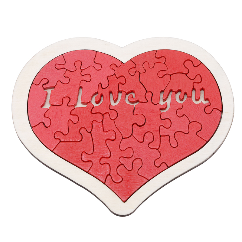 Toys For Baby Heart-shaped Wooden Puzzle Animal Educational Developmental Baby Kid Training Toy Educational Toy Gift For Baby
