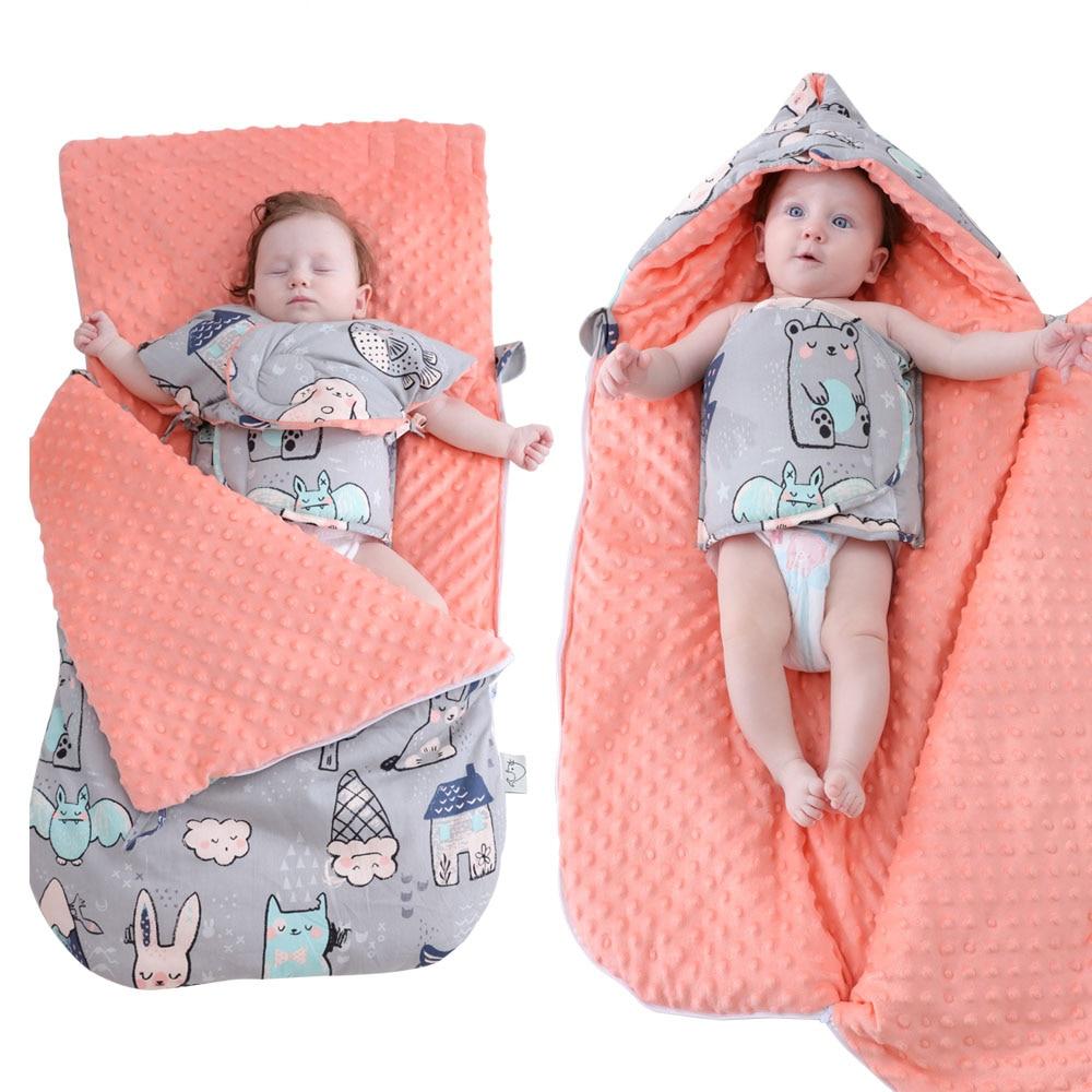 Image 4 - Baby Sleeping Bag Cartoon Animal Cotton Baby Stroller Sleeping Bag Wheelchair Envelopes For Newborn-in Sleepsacks from Mother & Kids