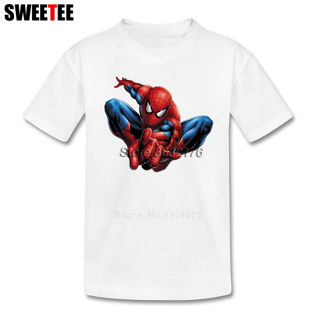 Boy Girl T Shirt Baby Infant Pure Cotton Crew Neck Kid Tshirt Spiderman childrens Movie Garment 2018 T-shirt For Toddler
