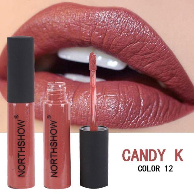 מט שפתון לאורך זמן נוזלי שפתיים איפור גוון קעקוע שפתון קל ללבוש אדום גלוס קוסמטי