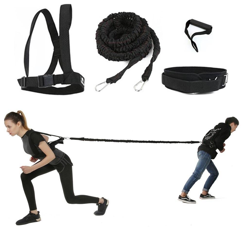 Faixa da resistência do Látex Bungee Cord Velocidade de Aceleração Conjunto Trainer para Alongamento de Fitness tênis de Corrida Sprint Treinamento Melhorar A Agilidade