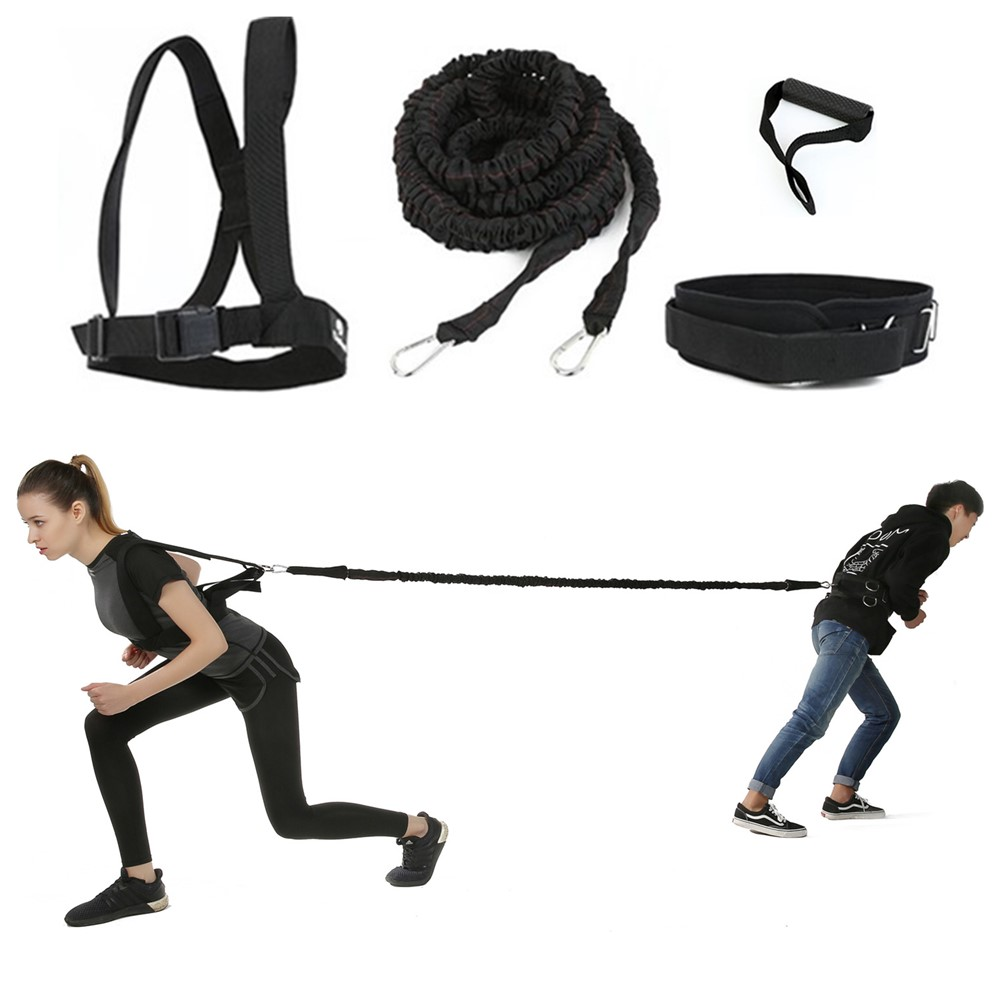 Resistance Band Bungee Latex Acceleration Speed Cord Trainer Set For Fitness Stretching Running Sprint Training Improve Agility