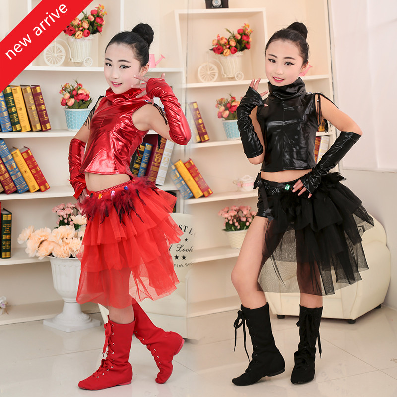 New Jazz Dance Dress Suit Children Fashion Modern Hiphop Dancing Clothes Model Show Stage Performance