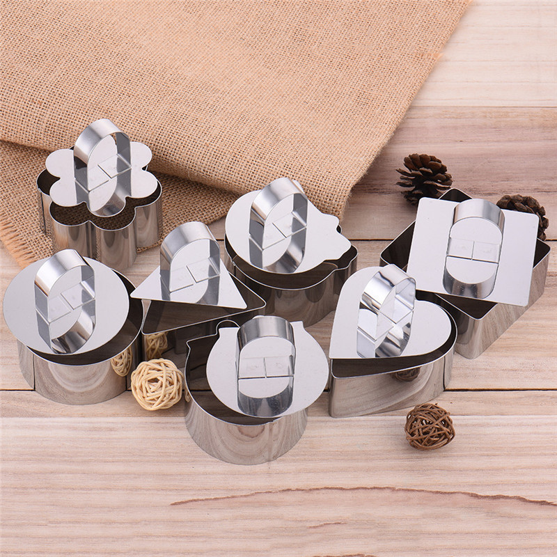 DIY Bakeware Tools Shape Cupcake <font><b>Molds</b></font> Salad Dessert Mousse Ring Cake <font><b>Cheese</b></font> Tiramisu Biscuits Slicer Kitchen Accessiories image