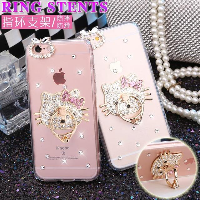 size 40 8e1c9 578d7 US $3.3 |Rhinestone Diamond Hello Kitty Transparent Cover For Xiaomi redmi  Note 4X 4 Pro redmi 4X redmi 4A 4 Stand Holder PC Phone Case-in Rhinestone  ...