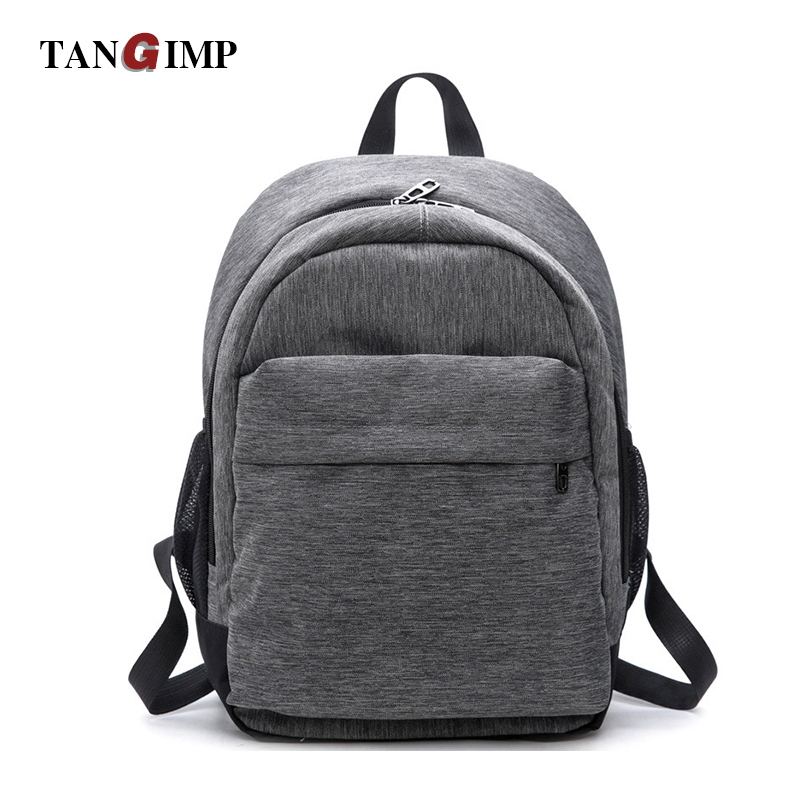 ea6e9034d6 Aliexpress.com   Buy TANGIMP Canvas Backpacks Schoolbags for Teenagers Boys  Girls Solid Casual Travel for Laptop Bag Rucksack mochila Simple Style from  ...