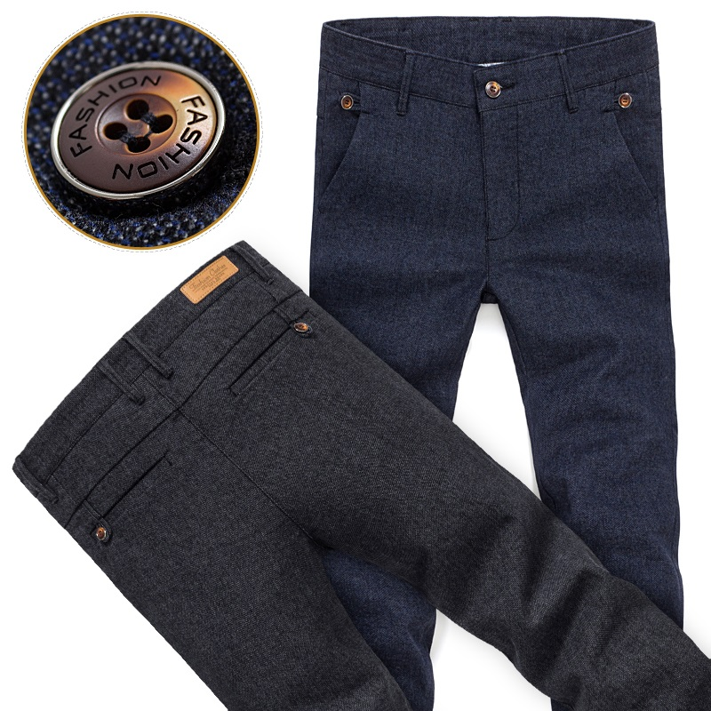 Classic Business Casual Men Casual Wear Pants Comfort Big Size 28-38 Brand New fashion design cotton Outdoors Long Trousers