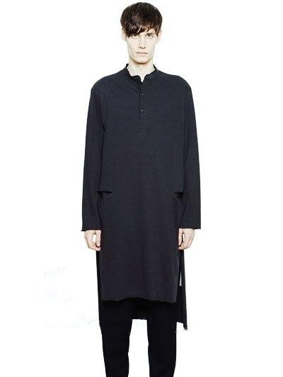 2017 gros yards vêtements pour hommes hommes femmes personnalité long design placging pull chemise fluide shirThe chanteur vêtements t