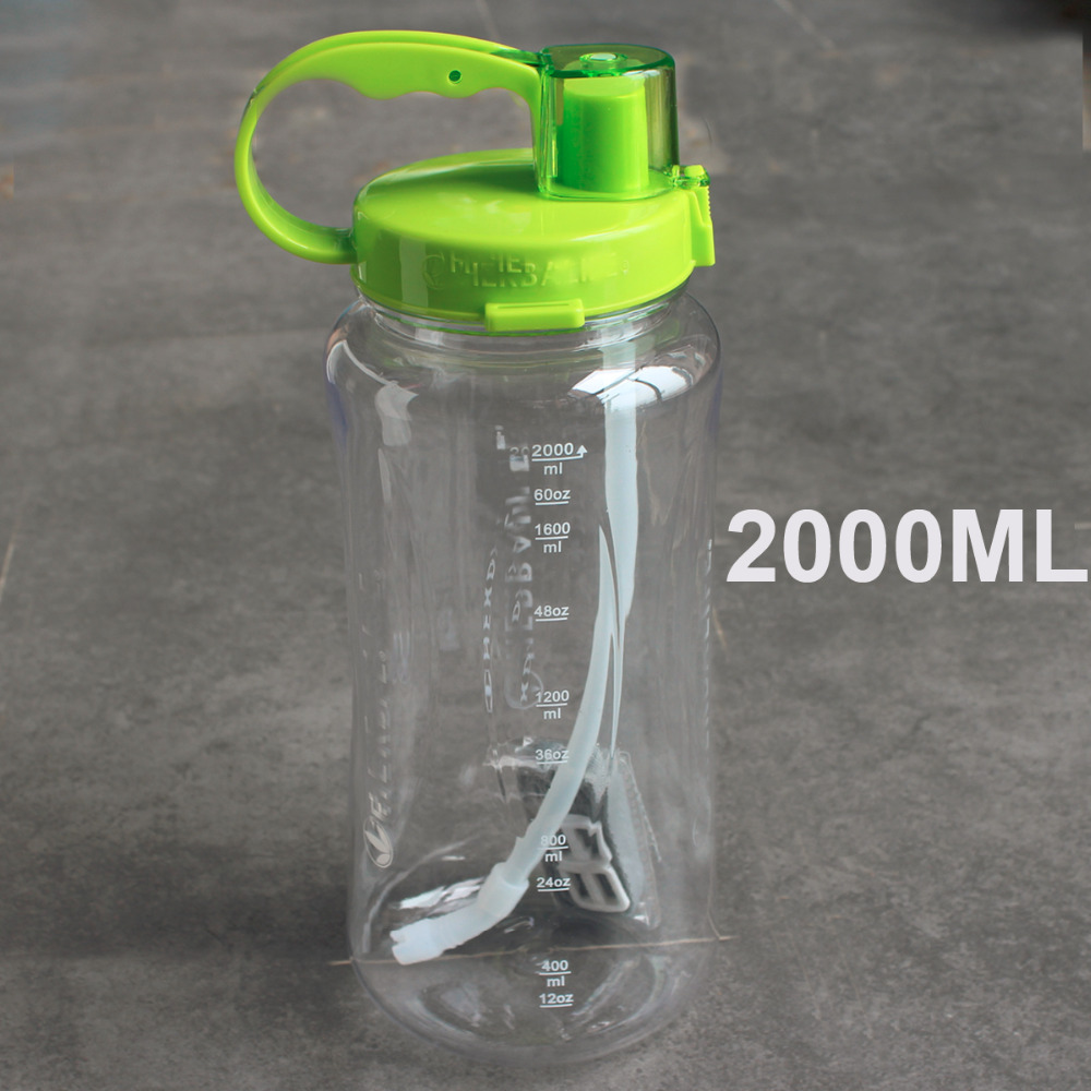 1L/ 2L 4 color 2L Oversized Water Bottle 2000ml Fashion  Portable Herbalife Nutrition Custom Shaker Bottle-in Water Bottles from Home & Garden on AliExpress