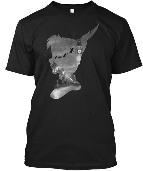 Peter Pan Over London T- Popular Tagless Tee T-Shirt