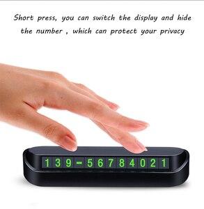 Image 4 - Автомобильный Стайлинг, карточка с телефоном для временной парковки, табличка с номером телефона, автостоянка, автостайлинг, автомобильные аксессуары