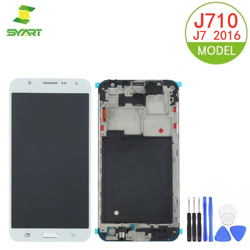 """For Samsung Galaxy J7 2016 AMOLED Display Touch Screen With Frame For Samsung J710 J710F J710FN J710M J710Y 5.5"""" OLED Screen"""