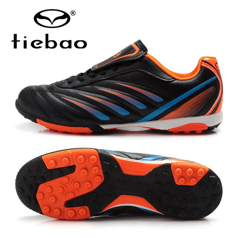 6f739e767 TIEBAO Football Shoes Soccer Cleats Kids Size 30-36 TF Turf Sloes Sneakers  Boys Girls Outdoor Training Boots