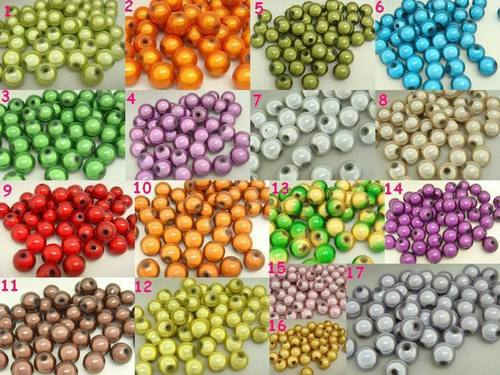 100 Mischfarbe 3D Illusion Miracle <font><b>beads</b></font> <font><b>8mm</b></font> Spacer image