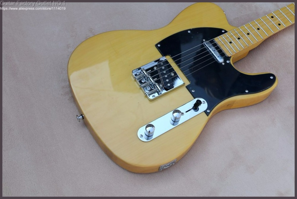 High Quality yellow telecaster guitar American  '50s telecaster standard electric Guitar in stock on sale free shipping