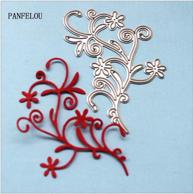 PANFELOU  Metal Beautiful flower bud paper die cutting dies for Scrapbooking/DIY  wedding Halloween cards