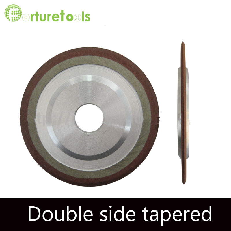 1 piece Resin bond PDX resin diamond wheel for slotting tungsten carbide double tapered grinding wheel Grit 150 JGS036 flaring diamond cup wheel for tungsten carbide hard alloy grinding resin bond abrasive wheel dia 2 3 4 5 inch 20 32mm hole r007