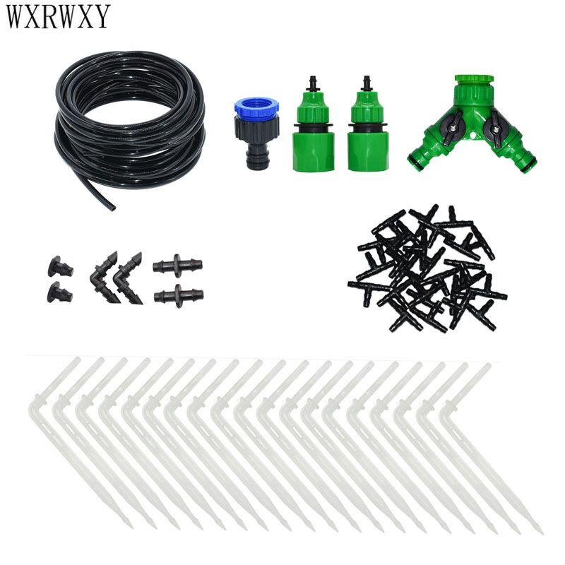 Automatic irrigation system DIY Arrow drip micro drip irrigation system 2 way watering kit for garden greenhouse watering in Watering Kits from Home Garden