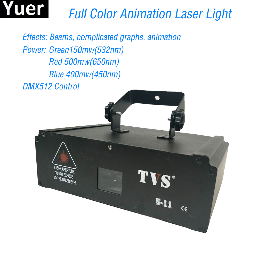 Dj Laser Stage Light Full Color Led 1w Rgb Stage Effect Lighting Dmx512 Strobe Disco Lights For Bar Party Stage Night Light Xmas