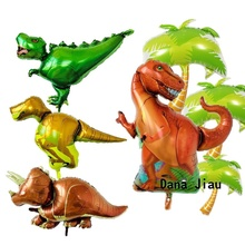 Big dinosaur Foil Balloons Birthday party decoration Inflatable air Photo Prop Kids Toy animal zoo theme decorate ball
