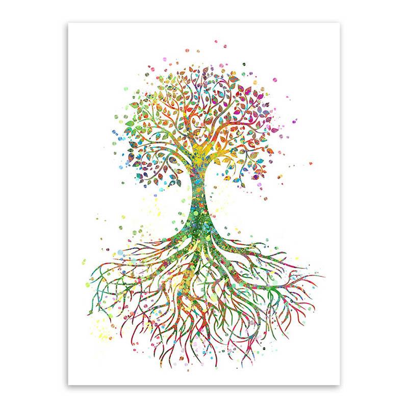 Bunten Kräftig Und Energisch Die Baum Des Lebens Fühlen Sie Sich