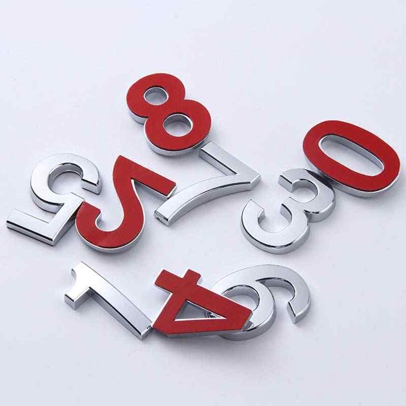Venda 1PC 0-9 Número Número Da Placa Moderna Casa Endereço Dígitos Etiqueta Da Placa De Sinal Da Porta Do Hotel