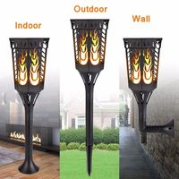 LED Solar Flame Lamps Flicker Lighting Waterproof J5D2 Dancing Flame Effect Light Bulb Outdoor Garden Decor