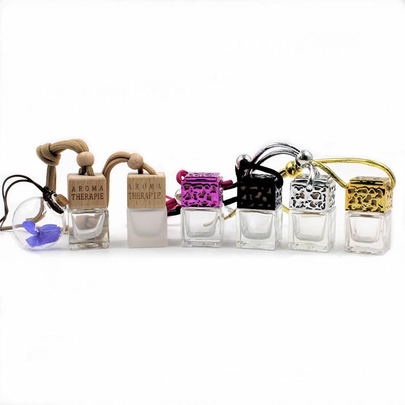 Car Hanging Perfume Pendant Fragrance Air Freshener Empty Glass Bottle For Essential Oils Diffuser Automobiles Ornaments More Discounts Surprises Interior Accessories
