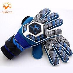 Dzieci Junior profesjonalne piłkarskie rękawice bramkarskie mocne z 5 palcami kolce rękawice bramkarskie oszczędzaj ochronę zagęścić lateksową piankę