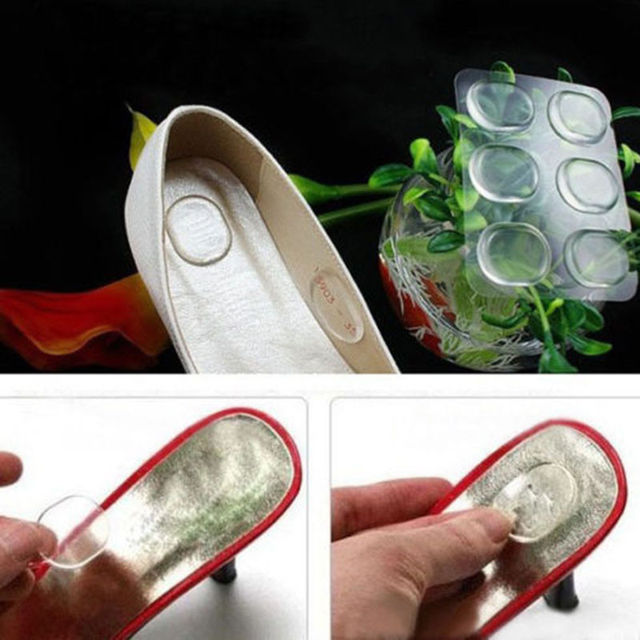 Girls Silicone Gel Shoe Insole Inserts Pad Cushion Heel Grips Liner Foot Care X6