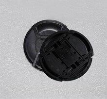 10 יח\חבילה 49 52 55 58 62 67 72 77 82 86mm מרכז צבוט Snap on כיסוי כובע לוגו עבור ניקון/canon מצלמה עדשה