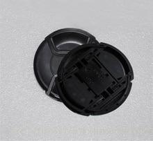 10pcs/lot 49 52 55 58 62 67 72 77 82 86mm center pinch Snap on cap cover LOGO for nikon/canon camera Lens