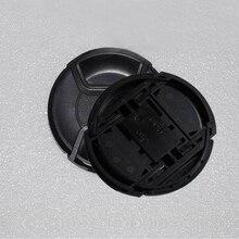 10pcs/lot 49 52 55 58 62 67 72 77 82mm center pinch Snap-on cap cover LOGO for nikon/canon