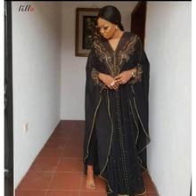 Hot sale African women dress hot drilling beaded Muslim shawl cloak womens sling fashion loose elegant high quality dres