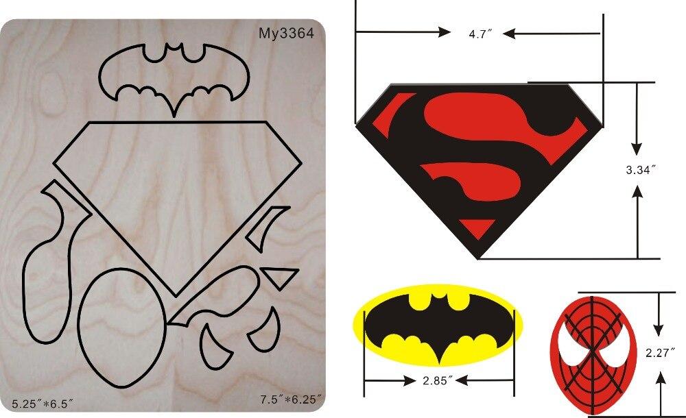 Super Hero die pour scrapbooking, papier artisanat et applique travail.