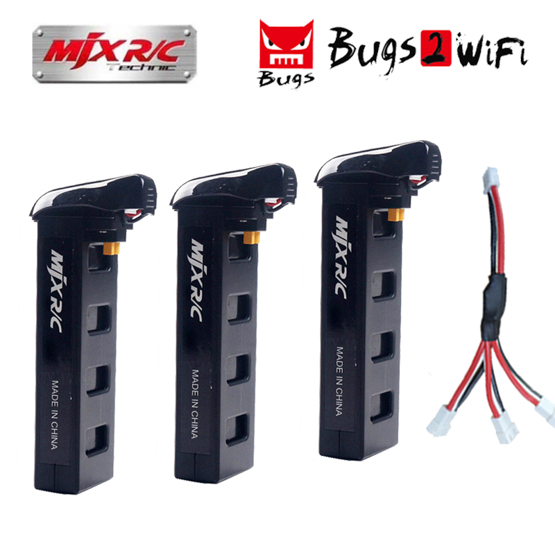 MJX Bugs2 Battery 7.4V 1800mAh 25C Li-po battery for MJX B2W B2C Brushless RC Quadcopter Drone Spare Parts Battery