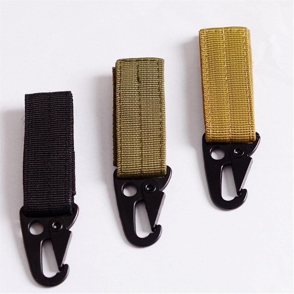 2Pc/Lot Military Nylon Webbing Tactical KeyHook Key ring Camping EDC Tool Keychain Tool survival kits EDC GEAR AA18-2P