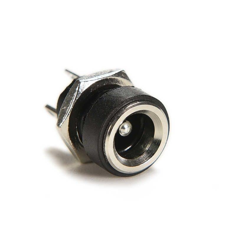 新 10 個 3A 12 v dc 電源ジャックと 2 ピンプラグ雌パネル実装コネクタアダプタコンバータナット 5.5 ミリメートル × 2.1 ミリメートル