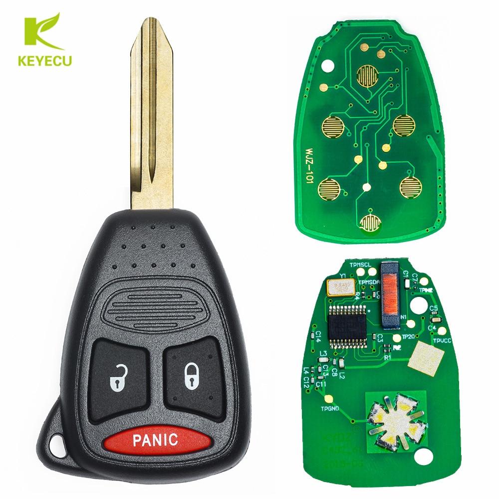 KEYECU New Replacement Remote Key Fob 3B For Dodge Dakota