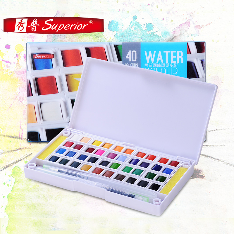 Superior Stationery Set Gouache Painting Beginner Hand-painted Dedicated 12/18/24/30/48 Color Solid Watercolor Pigment mungyo stationery set 12 24 48 color art solid watercolor painting pigment write iron box packaging