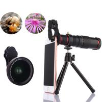 22X Zoom Mobile Phone Telescope Lens Telephoto External Smartphone Camera Black Lens
