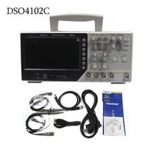 Hantek DSO4102C цифровой мультиметр осциллограф USB 100 мГц 2 Каналы 1GSa/s 7 дюймов ЖК-дисплей Дисплей Ручной Osciloscopio