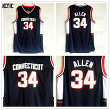 fe7ca2955c9 2018 ECTIC Mens Throwback Basketball Jerseys  34 Ray Allen Jersey  Connecticut Huskies College Stitched Shirts