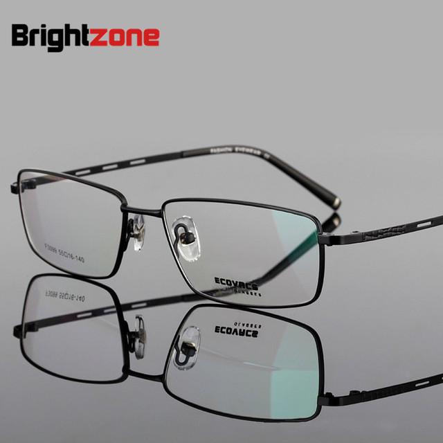 Exceder de fina luz exceder titanium hombre de negocios conciso gafas de miopía marco de los vidrios de doble propósito marco presbicia 3099