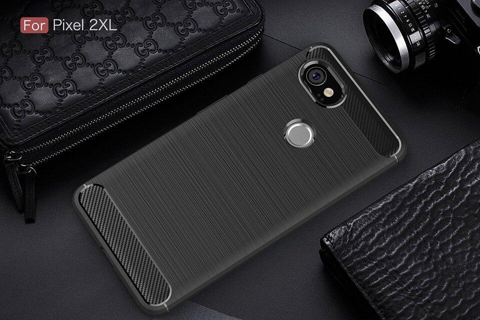 Carbon Fiber Case For Google Pixel 2 XL Case Armor Soft Silicone Pixel2 Coque Phone Cover For Google Pixel 2XL 3XL 3 2 XL Cases