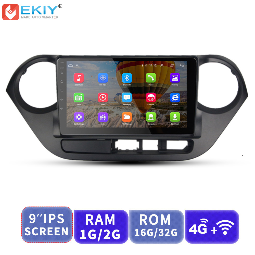 EKIY 9'' 2.5D No 2 Din Android Car Radio Multimedia Player Audio Video GPS Navigation For Hyundai Grand I10 2013 2014 2015 2016